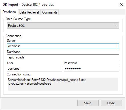 Database Import Driver - Rapid SCADA Documentation
